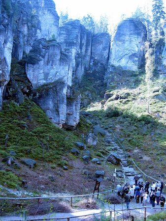 Kost Castle: walk 5 - Prachov Rocks