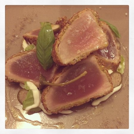Panevin: Tataki di tonno con pistacchio e maionese di yogurt