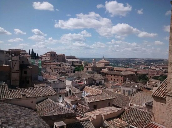 Oasis Backpackers' Hostel Toledo: View from the terrace!