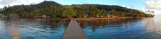 Opoa Beach Hotel : Lumière du matin à Opoa Beach