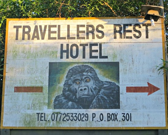 Traveler's Rest Hotel: The hotel signboard