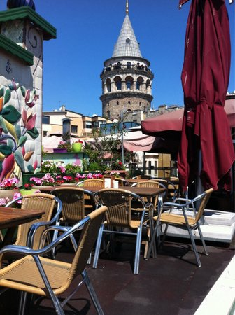 Konak Restaurant: View of the tower