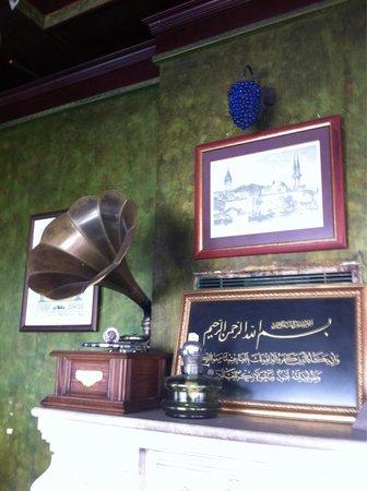 Konak Restaurant: Inside quirky fireplace