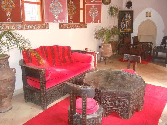 Riad Jona : lounging area