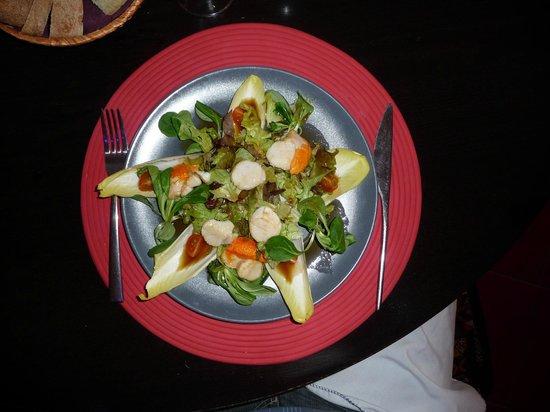 L'ASSIETTE DES MONDES : Salade Saint-Jacques (des vraies)