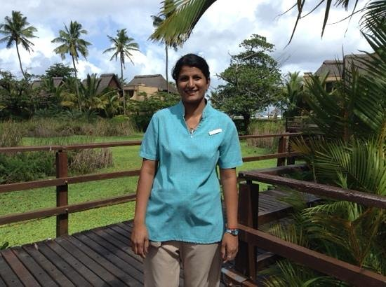 Shanti Maurice A Nira Resort: Kamini who looked well after us every day - 5 stars to her