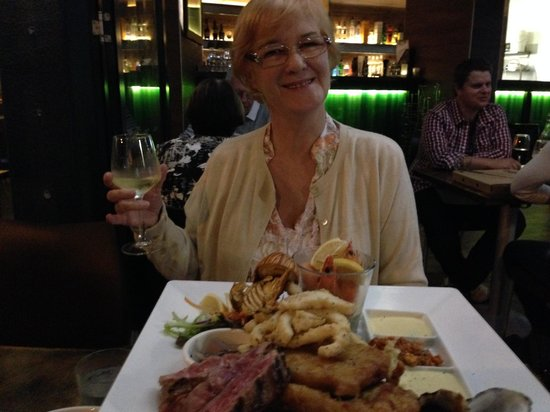 Sage Cafe Restaurant: The beef and seafood platter, specialty of the house