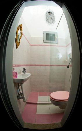 MultiPass Hostel Budapest: Barbies's bathroom.