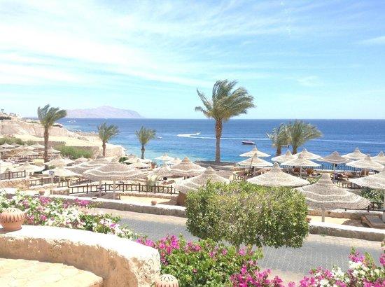 Hilton Sharks Bay Resort: Вид на море и о. Тиран с бара Sunset bar