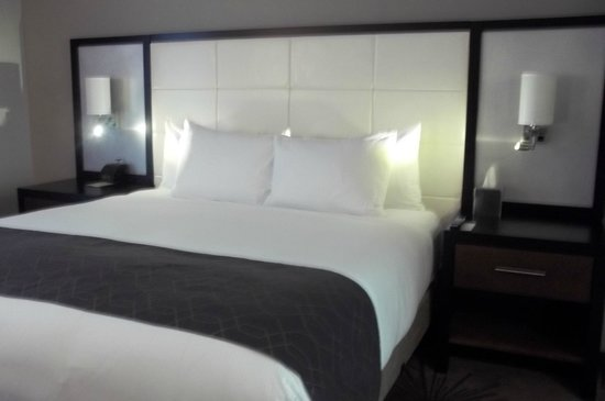DoubleTree by Hilton Hotel Cedar Rapids Convention Complex : Bed was comfortable, pillows were great, but the thin blankets didn't pull up high enough