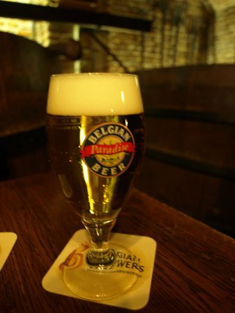 Museum of the Belgian Brewers: The complimentary glass of beer