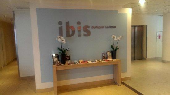 Ibis Budapest Centrum: Reception wall