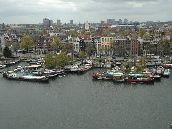 View from the terrace picture of la place amsterdam for Bibliotheek amsterdam