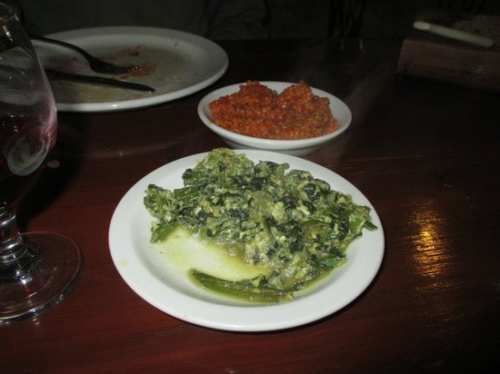 7 St. Georges Tavern : Spinach with egg and couscous