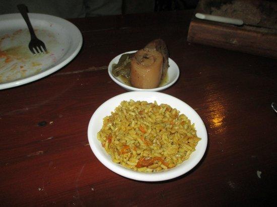 7 St. Georges Tavern : Roast leeks and rice