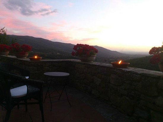Relais San Pietro in Polvano : View from the terrace