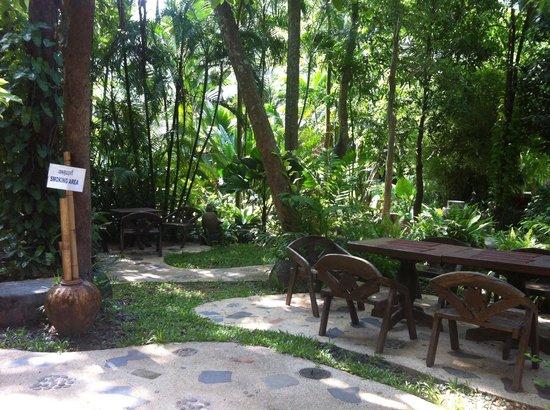 Somkiet Buri Resort: Photo taken from the restaurant at breakfast