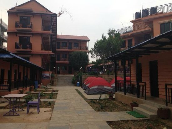 Gorkha, Nepal: Hotel from the front
