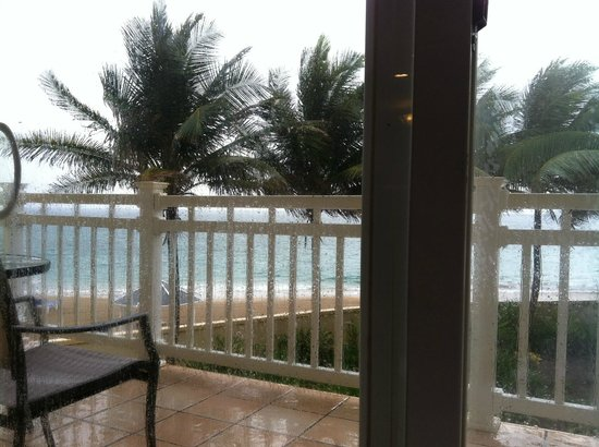 St. Kitts Marriott Resort & The Royal Beach Casino: Rainy day view from room