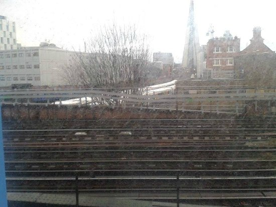 Travelodge London Central Southwark: Tracks outside window (NOT zoomed in)