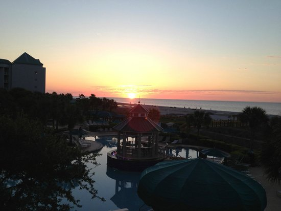 Marriott's Barony Beach Club: sunrise from Barony Beach