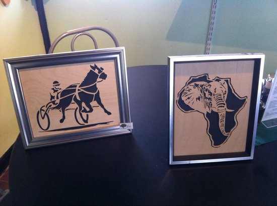 Rivendel Cafe: Racing Horse and Cart, African Elephant picture