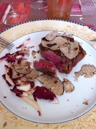 Osteria del Melograno : Filetto di angus con tartufo nero