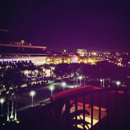 Anaheim Marriott : View from Balcony at Night