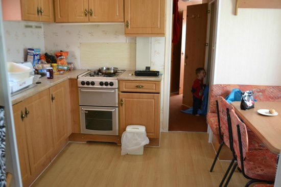 Fort Holiday Park : kitchen-3bedroom caravan