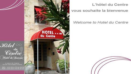 Hotel du Centre : détail de l'entrée de l'hôtel
