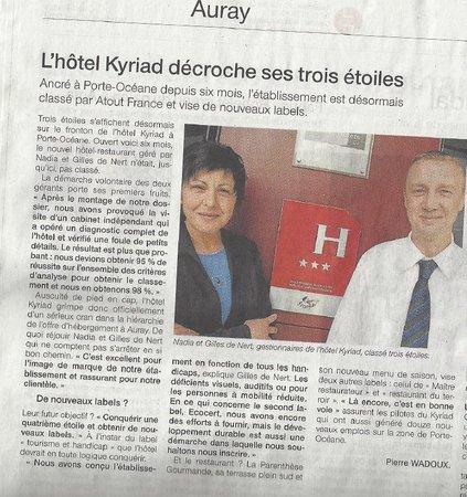 Hotel Kyriad Auray - Carnac : notre histoire