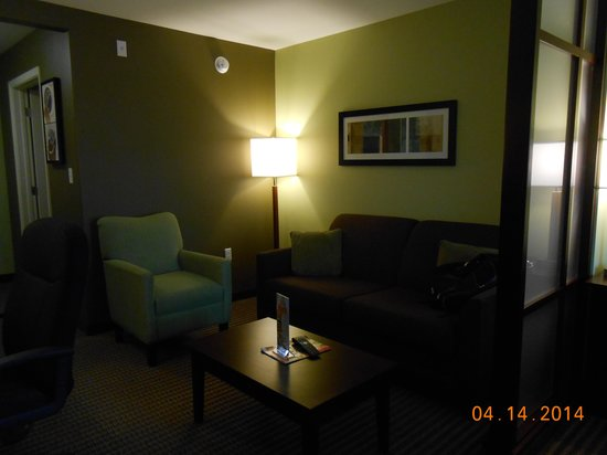 Comfort Suites Harvey: Couch with sleeper sofa