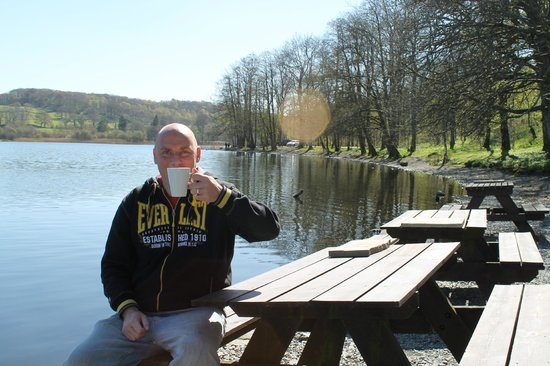 Esthwaite water trout fishery: tea by the lake