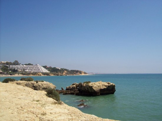 Muthu Oura Praia Hotel: View of Oura Praia from the cliffs