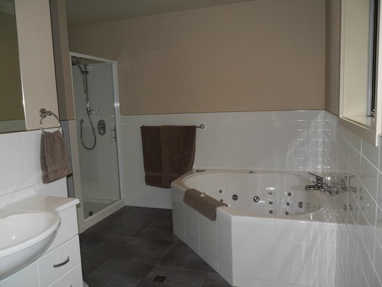 388 on Tay: Large jacuzzi bath and separate shower