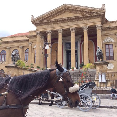 Teatro Massimo: Were it all happens..outside this theatre and the surrounding area!