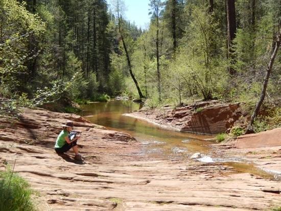 West Fork Oak Creek Trail: west fork trail.. one of many quiet spots