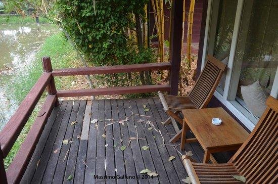 Inle Resort & Spa : la veranda
