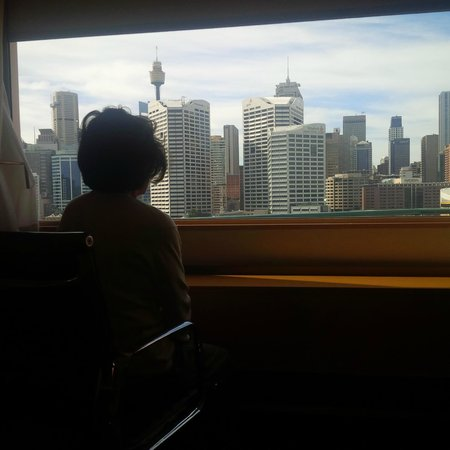 Novotel Sydney on Darling Harbour : Mum enjoying the harbour view