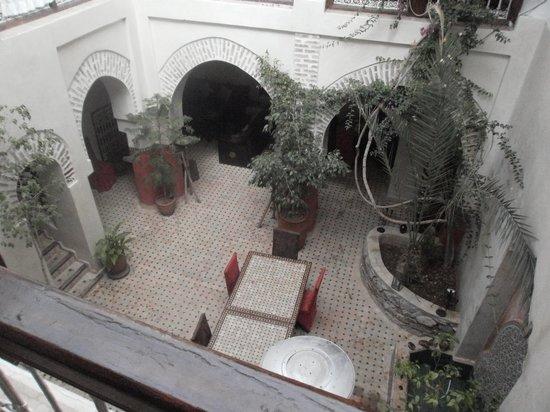 Riad Dar Palmyra: le patio vu du haut