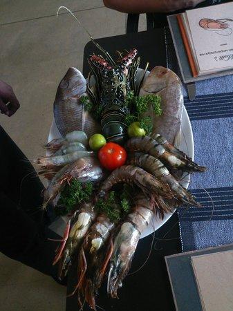Malli's Seafood Restaurant : Улов дня