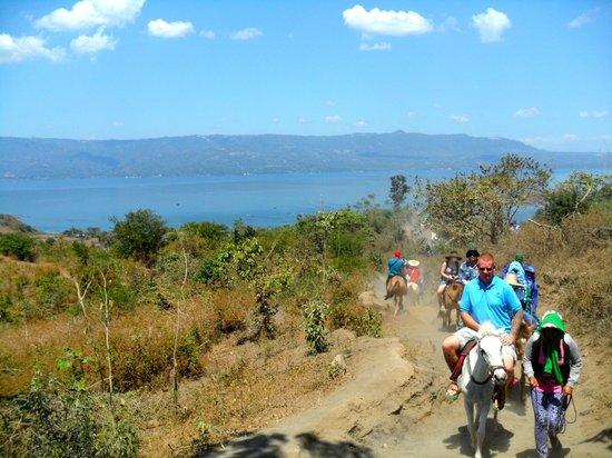 Taal Volcano: Half way, going up