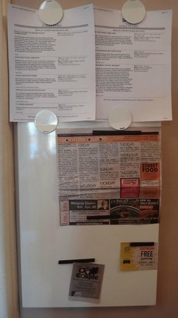Stone Maiden Inn : Loved the attention to detail!  A board with all the events during our stay