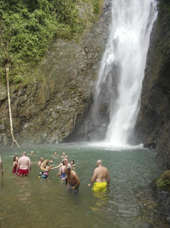 waterfall on Navua River, Suva, Fiji