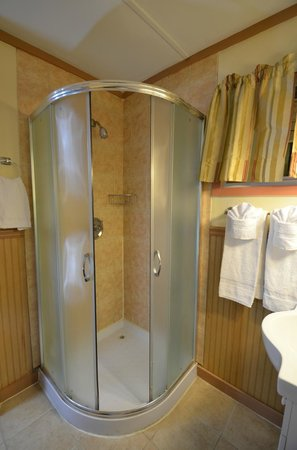 Williamstown Motel: Standing Bath in room with one queen bed
