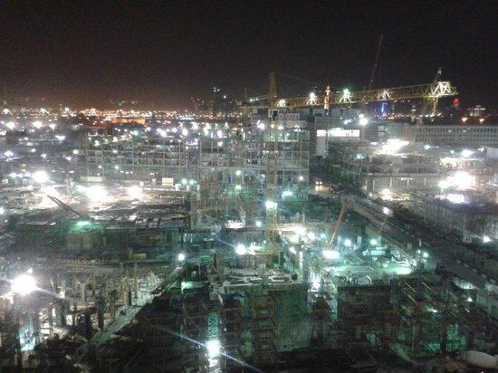 Mercure Grand Hotel Doha : vue de notre chambre (travaux jour et nuit !)