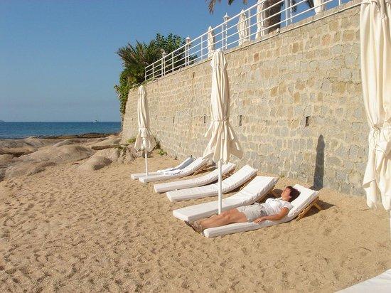 Hotel Les Mouettes : Petit déjeuner au bord de la mer