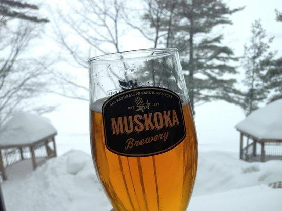 Taboo Muskoka Resort: The resort served up fresh draft Muskoka Brewery beer - perfect.