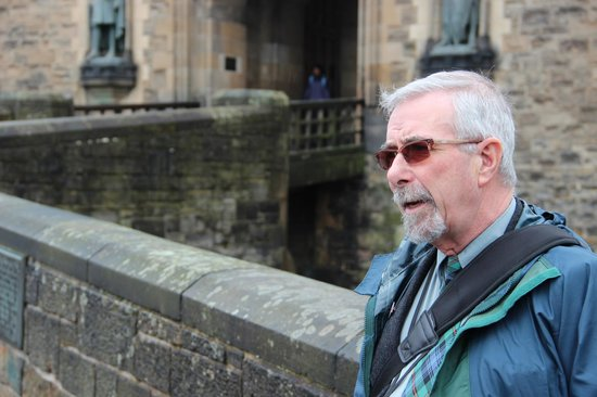 Edinburgh Tour Guide: Our guide Bill - a wealth of knowledge, anecdotes and humor!