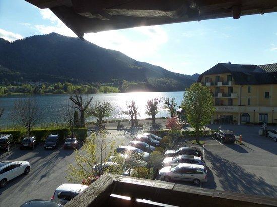 Hotel Stefanihof: unser Balkon mit Seeblick